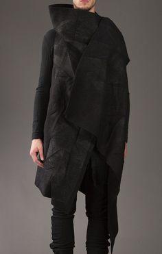 Boris Bidjan Saberi | macabre | dark fashion | goth | obscure | high fashion | editorial | black leather jacket
