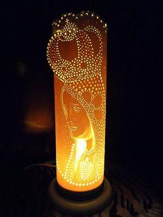 luminária em pvc N.S Fátima R$ 75,00