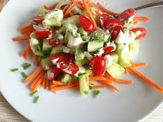 Healthy Garden Veggie Salad #tworaspberries #ontheblog #healthy #gardenvegetables #garden