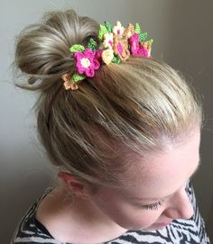 LoveCrochet | Now that the the season of weddings, festivals and summer parties is upon us, what could be more perfect than Kate Eastwood's beautiful crochet flower hair crown to accessorise your outf