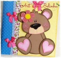 Aprende cómo decorar tus cuadernos y carpetas con foami ~ Manoslindas.com K Crafts, Foam Crafts, Felt Animals, Animals For Kids, Baby Shower Clipart, Bear Felt, Sketches Of Love, Decorate Notebook, Cute Bears