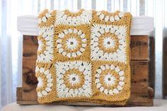 Cream Baby Blanket/ Gold Baby Blanket/ Baby Blanket/ Crochet Baby Blanket/ Sunflower Baby Blanket/ Girl Baby Blanket/ Newborn Blanket by RycesPiecesKnits on Etsy https://www.etsy.com/listing/244330441/cream-baby-blanket-gold-baby-blanket