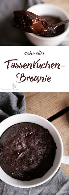 Brownies Tassenkuchen vegan