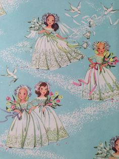 Vintage Gift Wrapping Paper  Beautiful by TheGOOSEandTheHOUND, $6.00