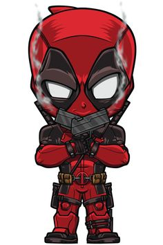 Chibi Deadpool by Lord Mesa Marvel Comics, Chibi Marvel, Marvel Heroes, Marvel Avengers, Chibi Superhero, Ultron Marvel, Deadpool Wallpaper, Marvel Wallpaper, Kawaii Anime