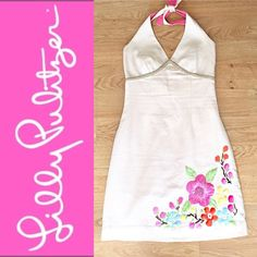 Selling this Lilly Pulitzer dress with embroidered flowers in my Poshmark closet! My username is: mycloset1977. #shopmycloset #poshmark #fashion #shopping #style #forsale #Lilly Pulitzer #Dresses