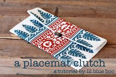 Make a clutch from a placemat