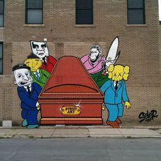 "Sever ""Street Art Is Dead"" Mural In Detroit"