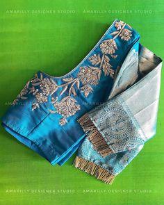 Source by vijaymalabharat designs latest Pattu Saree Blouse Designs, Simple Blouse Designs, Stylish Blouse Design, Fancy Blouse Designs, Bridal Blouse Designs, Blouse Neck Designs, Designer Blouse Patterns, Sarees, Lehenga