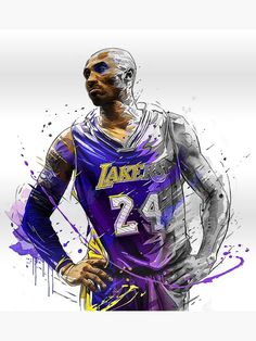 Kobe Bryant Poster, Banner or Canvas - Artwork Bryant Bryant Black Mamba Bryant Cartoon Bryant nba Bryant Quotes Bryant Shoes Bryant Wallpapers Bryant Wife Nba Basketball, Basketball Legends, Fantasy Basketball, Black Mamba Basketball, Basketball Tattoos, Basketball Tickets, Basketball Workouts, Basketball Birthday, Kobe Bryant Lakers