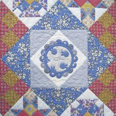 Block of the Month: Aunt Grace First Place - Center Block great colors