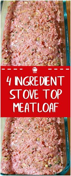 Ingredients 1 Pound Ground Meat (Beef or Turkey or Chicken) 1 Egg 1 Box Stove Top 1 Cup Water Instructions Pre-heat oven to 350 degrees Beat together the egg and 1 cup of water in a #stovetopmeatloaf