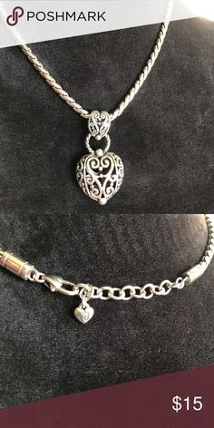 fdb09ba61b4c Brighton Silver Filigreed Heart Necklace 🎁🎄 Beautiful Brighton Silver  Filigree Heart Necklace Never