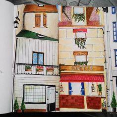 """my.. #secretparis #coloring #coloringbook #art #paris"""