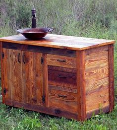 Reclaimed Wood Bathroom Vanity | Since washing your hands is one of those happening-all-the-tim... | Storage Chests