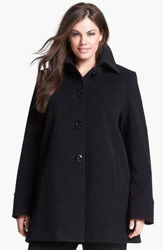 Kristen Blake Wool Blend A-Line Coat (Plus Size) | Nordstrom