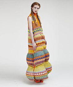 Katie Witham — BA (Hons) Fashion Design Technology: Surface Textiles LCF x Knitwear Fashion, Knit Fashion, Fashion Art, High Fashion, Womens Fashion, Fashion Design, Fashion Trends, Tribal Fashion, Design Textile