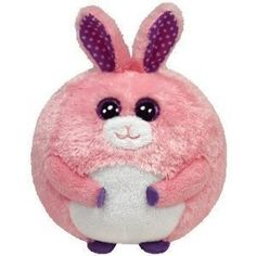 Ty Carnation the Pink Bunny Rabbit Beanie Ballz Balls