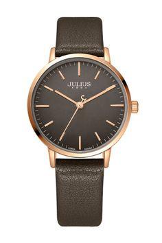 Julius Watch JA-922D Fashion Watch Women`s Leather Strap Watch