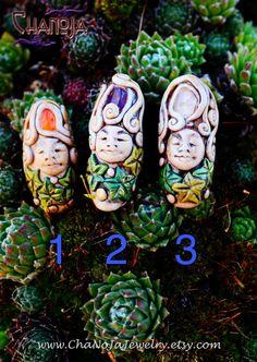 Dreadlock Beads Ivy Pixie-dread beads hair by ChaNoJaJewelry