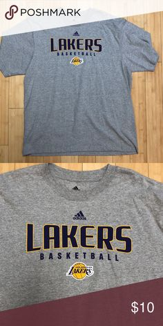 5b989f0300aa1 Adidas NBA Laker s shirt Grey adidas t shirt with the Laker s logo on it.  NWOT