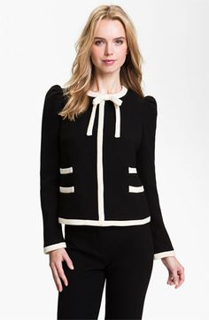 Milly 'Marizia' Bow Detail Jacket available at Nordstrom, so what I would wear.