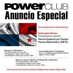 En noviembre en #FechasPatrias @powerclubpanama No Cierra !!! #CualEsTuExcusa para entrenar #YoEntrenoEnPowerClub