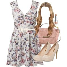 Lydia Inspired Wedding Outfit with a Floral Dress