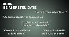 #NO GO #erstes date