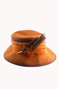 Image detail for -Gold Harris Tweed Hat with Feather Pin - Accessories | Women - Hats ...