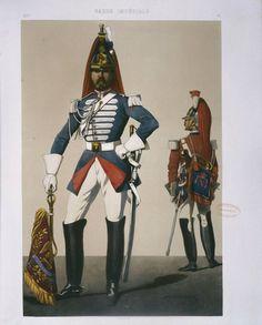 Trompettes des 1° et 2° régiments de cuirassiers de la Garde impériale - second empire - A. Dumaresq