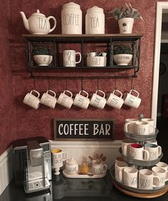 35 Awesome Diy Mini Coffee Bar Design Ideas For Your Home. If you are looking for Diy Mini Coffee Bar Design Ideas For Your Home, You come to the right place. Below are the Diy Mini Coffee Bar Design. Coffee Nook, Coffee Bar Home, Coffee Corner, Coffee Mugs, Coffee Maker, Cozy Coffee, Coffee Wine, Café Vintage, Wedding Vintage