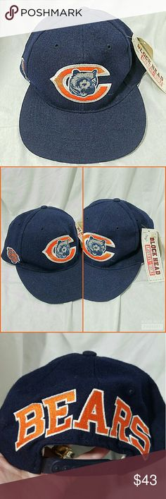 TEAM NFL *nwt* Vintage Chicago Bears Wool Cap Brand: American Needle for Team NFL - Officially Licensed Product  Item: *Very Hard to Find, Rare Navy Blue 100% Wool Ball Cap *Officially Licensed by thr NFL *Snapback for Adjusting Fit *Bear Symbol & their Signature C and an Orange Bear on the Right Side  *no trades, offers via offer button only* American Needle Accessories Hats