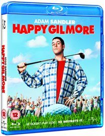 Happy Gilmore Happy Gilmore (Adam Sandler) is a would-be hockey star who finds his slap shot better employed on the fairway. When his granny loses her house to the IRS Happy determines to buy it back by winning the http://www.MightGet.com/january-2017-12/happy-gilmore.asp