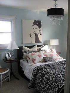 Dianakisses: Inspired Rooms: Audrey Hepburn Canvas Painting from IKEA