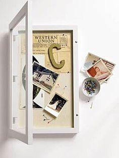 Diy Shadow Box, Shadow Box Frames, How To Shadow Box, Shadow Box Memory, Purse Storage, Cats Diy, How To Make Box, Diy Box, Metal Wall Decor