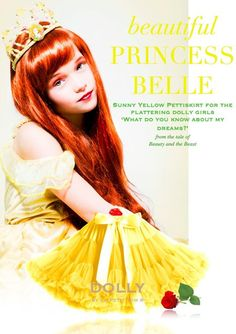 DOLLY by Le Petit Tom ® PRINCESS BELLE pettiskirt yellow