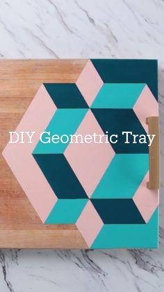 DIY Geometric Tray