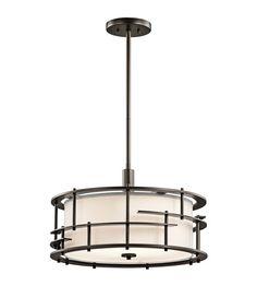 kichler 43373oz tremba 4 light 20 inch olde bronze pendantsemi flush ceiling light