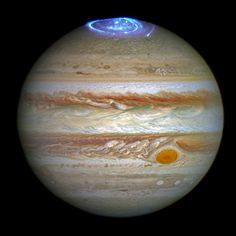 Astronomers are using NASA's Hubble Space Telescope to study auroras — stunning light shows in a planet's atmosphere — on the poles of the largest planet in the solar system, Jupiter. http://hubblesite.org/newscenter/archive/releases/2016/24/