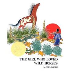 The Girl Who Loved Wild Horses by Paul Goble is a Picture book. It uses lots of line. It would be a good book to use when teaching similes. It is a Caldecott winner. Native American Legends, Native American Children, Will Terry, Mighty Girl, Wolf, Jackson, Horse Books, Children's Picture Books, Picture Story