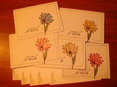 Set of 5 Thank You Cards by PrairieHillsFarm on Etsy, $5.50