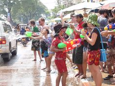 Laos New Years (in April) Entire country splashes each other with water...seriously soo much freakin fun!