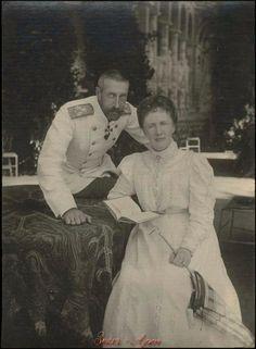 "Grand Duke Konstantin Konstantinovich Romanov of Russia and Grand Duchess Elizaveta Mavrikievna Romanova of Russia.   ""AL"""