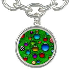 #zazzle #christmas Colorful glass ornaments on a bright green christmas tree in this fun holiday repeating pattern.
