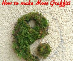 27 Best ideas for diy garden art moss graffiti Moss Graffiti, Graffiti Wall Art, Moss Garden, Garden Art, Bali Garden, Bonsai Garden, Outdoor Projects, Garden Projects, Garden Ideas