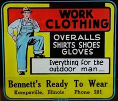 Work-Clothing-for-the-Outdoor-Man-Movie-Advertising-Magic-Lantern-Glass-Slide