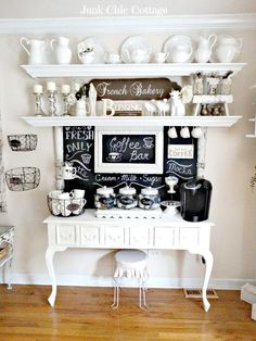 * New Chalkboard * New Coffee Bar * - Junk Chic Cottage