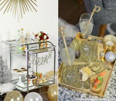 Bar cart party set up