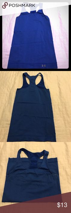 Under Armour compression Racerback Tank Top Size S Compression Racerback Tank Top Size Small in a Royal Blue Striped Color. Great Condition Under Armour Tops Tank Tops